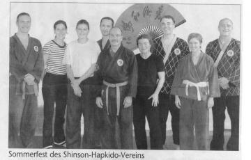 Presseartikel aufgrund des Sommerfestes und ehemaligen Training aus dem Jahr 2007