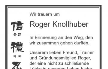 Traueranzeige für die Zeitung anlässlich des Todes von Roger