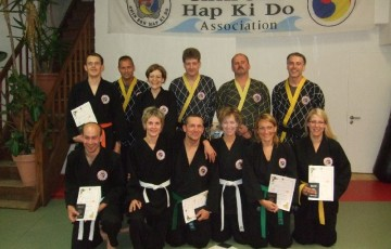 Teilnehmer der 33. Kup Prüfung im Dojang Hasselroth