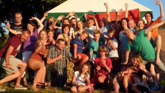 Die Sommerzeltlagerteilnehmer aus dem Dojang Hasselroth in Cham, Schweiz 2013
