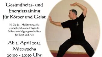Flyer für Ki-Do-In Training